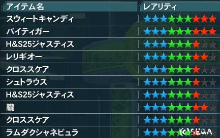 ★10が入らないリスト