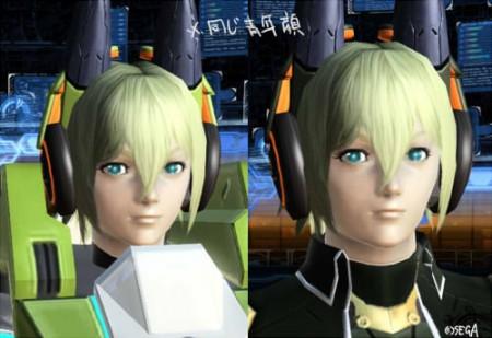 両方共青年顔かつ同じモーフィング具合です